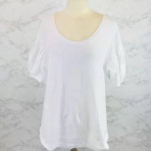 Anthropologie postmark White shirt puff sleeve m
